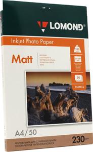 LOMOND 0102016 (A4, 50 листов, 230 г/м2) бумага матовая односторонняя