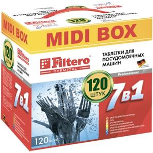 """Filtero Таблетки для ПММ """"7в1"""" МIDIBOX 120 шт., Арт. 710"""