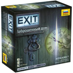 """Игра настольная Звезда """"EXIT Квест. Заброшенный дом"""", картонная коробка"""