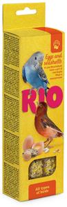 """RIO / Лакомство для всех видов птиц """"Палочки"""" с яйцом и ракушечником 80 гр."""