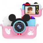 Детская цифровая камера в форме микки розовая
