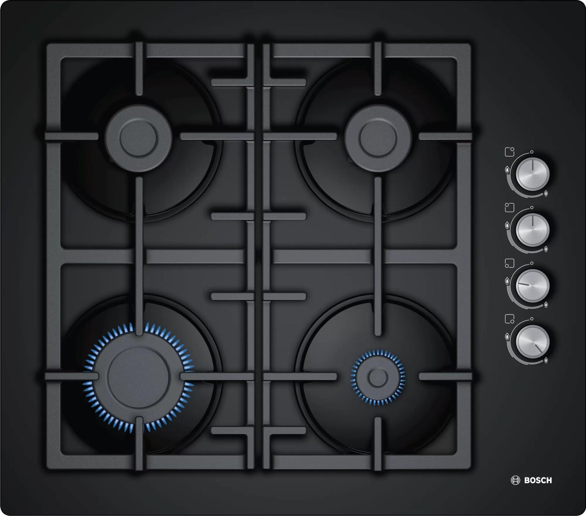 Газовая варочная панель Bosch POP6C6O90R черный
