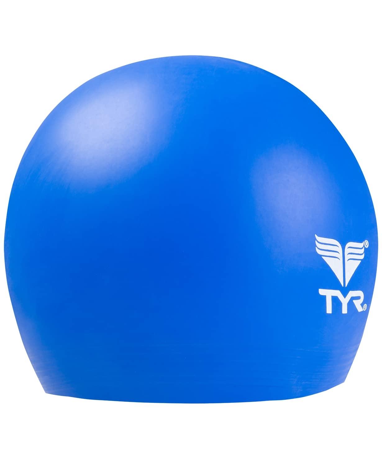 Шапочка плавательная Latex Swim Cap, латекс, LCL/428, голубой