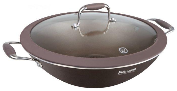 Сковорода-вок Rondell Mocco 552-RDA Вок с/кр 32 см Mocco (коричневый) 2шт.