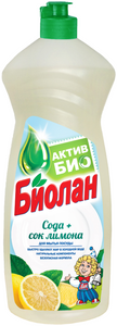 Средство для мытья посуды Сода и сок лимона 900мл. Биолан
