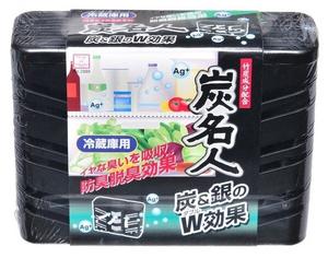 Дезодорант-поглотитель неприятных запахов холодильника с древесным углем и ионами серебра (общее отделение), 60гр Kokubo