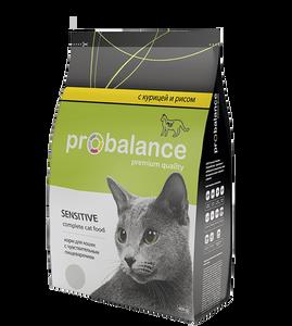 """Сухой корм для кошек ProBalance """"Sensitive"""" при чувствительном пищеварении 16 шт. х 400 г"""
