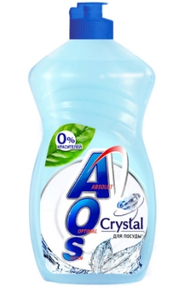 Средство для мытья посуды Crystal 450мл. AOS