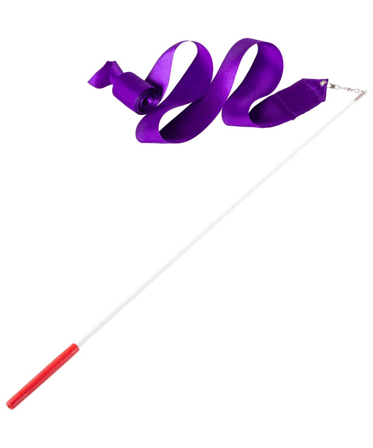 Лента для художественной гимнастики AGR-201 4м, с палочкой 46 см, фиолетовый