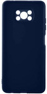 Чехол накладка Alwio для POCO X3 синий