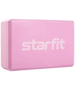 Блок для йоги Core YB-200 EVA, розовый пастель