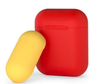 Чехол силиконовый Deppa для AirPods (Red-Yellow)