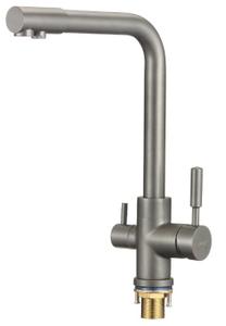 Смеситель для кухонной мойки с фильтром питьевой воды Savol S-L1801Q  серый