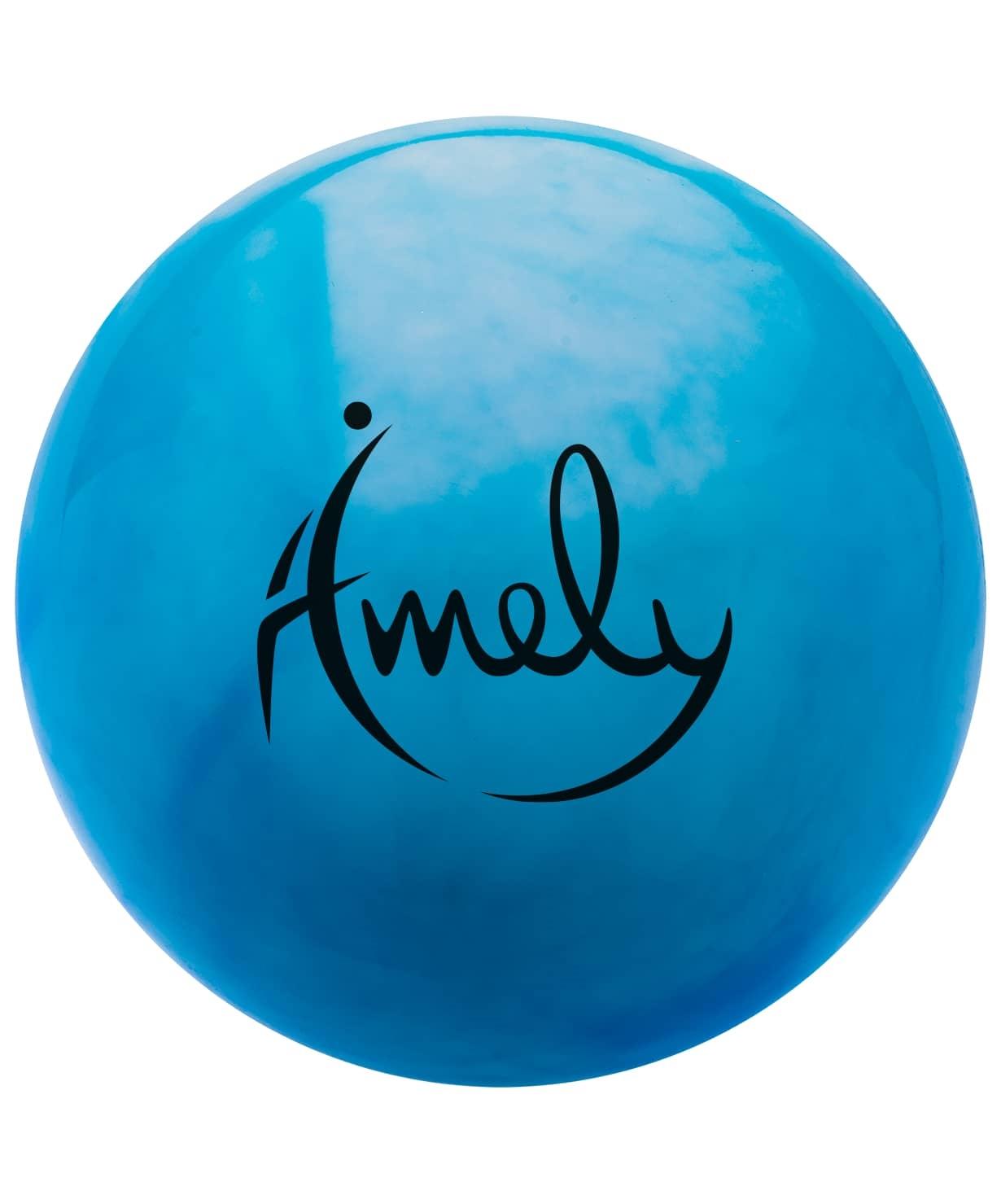 Мяч для художественной гимнастики AGB-301 19 см, синий/белый