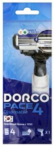 Станок одноразовый мужской PACE 4 1шт Dorco