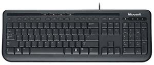 Клавиатура проводная Microsoft 600 черный