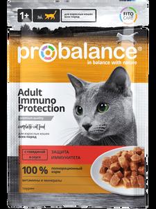 """Влажный корм для кошек ProBalance """"Immuno Protection"""" с говядиной 25 шт. х 85 г"""