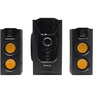 Колонки Defender Avante X45 Pro (2x10W +Subwoofer 25W,  дерево, SD, ПДУ)  <65078>, (дырка в передней части коробки )