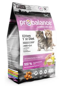 "Сухой корм для котят ProBalance ""Kitten 1`st Diet"" с цыплёнком 16 шт. х 400 г"