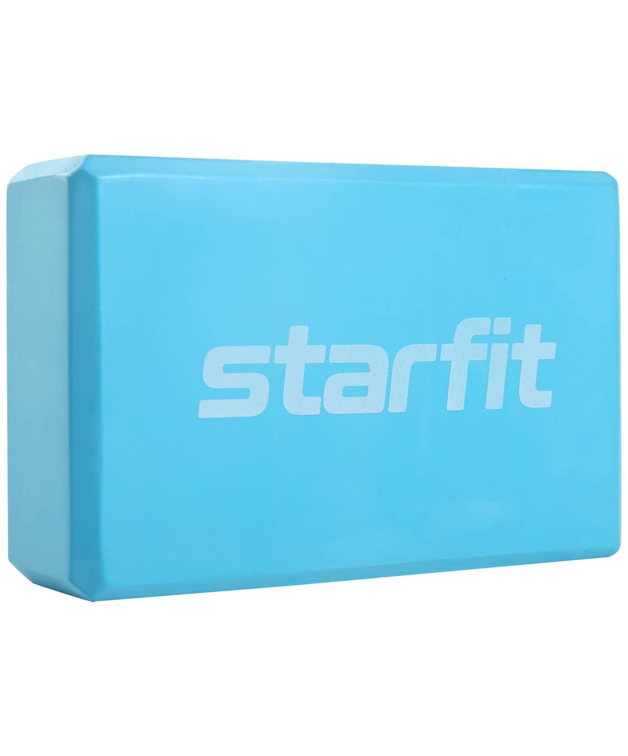 Блок для йоги Core YB-200 EVA, синий пастель
