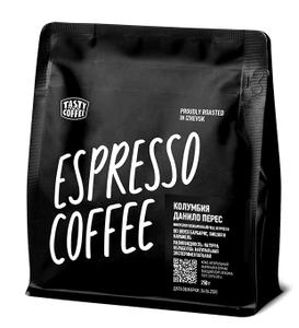 "Tasty Coffee, микролот эспрессо ""Колумбия Данило Перес"", в зернах, 250 г"