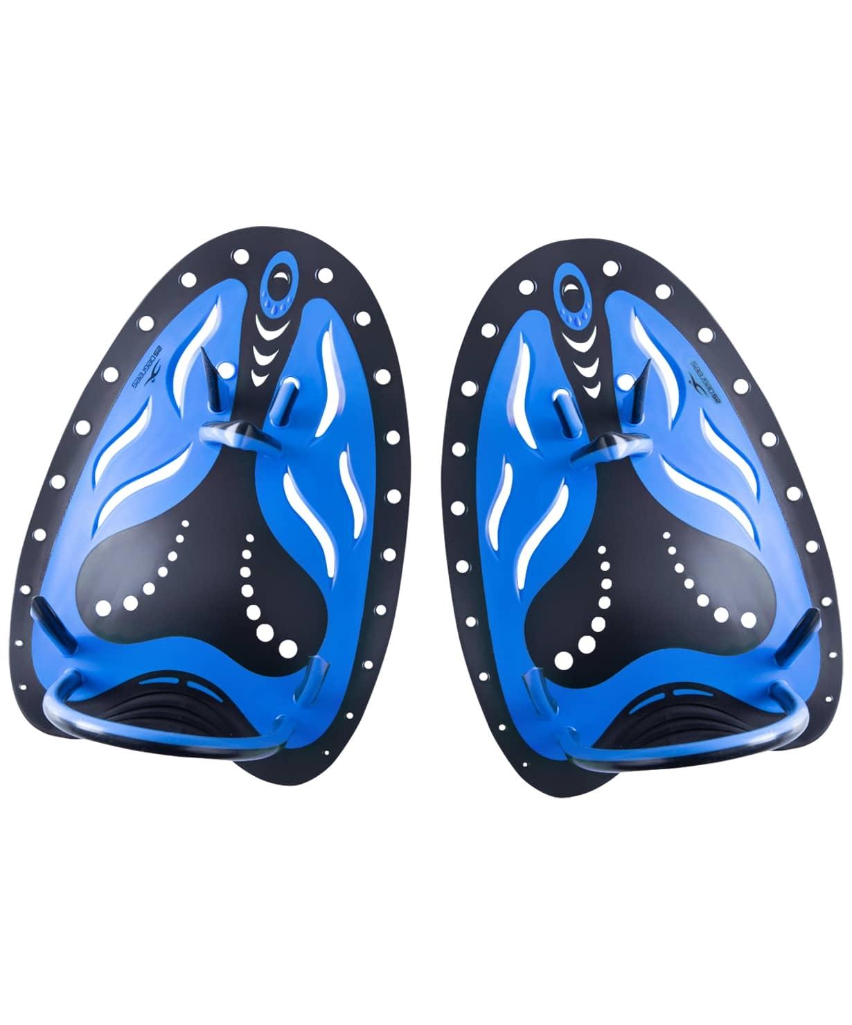 Лопатки для плавания B-Stroke Black/Blue, L