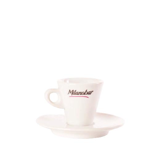 Чашка кофейная с блюдцем для эспрессо Milanobar, 70 мл