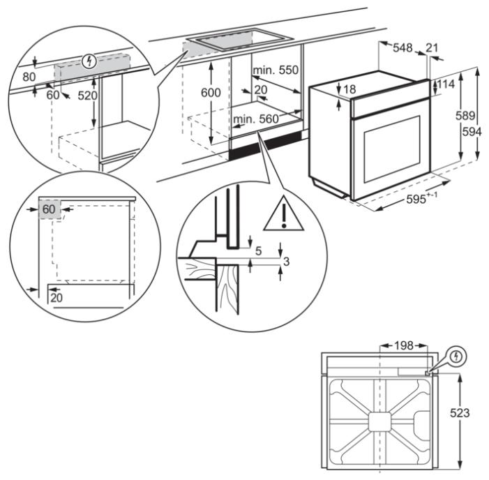 Духовой шкаф Electrolux OKC5H50X черный