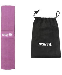Мини-эспандер STARFIT ES-204 тканевый, низкая нагрузка, фиолетовый