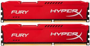 Оперативная память HyperX FURY Red Series [HX318C10FRK2/8] 8 Гб DDR3