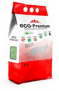 """Наполнитель комкующийся гигиенический """"Eco - Premium"""" Зелёный чай 5 л."""