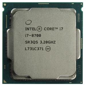 Процессор CPU Intel Core i7-8700 3.2 GHz / 6core / SVGA UHD Graphics 630 / 1.5+12Mb / 65W / 8 GT / s LGA1151, неисправно видеоядро