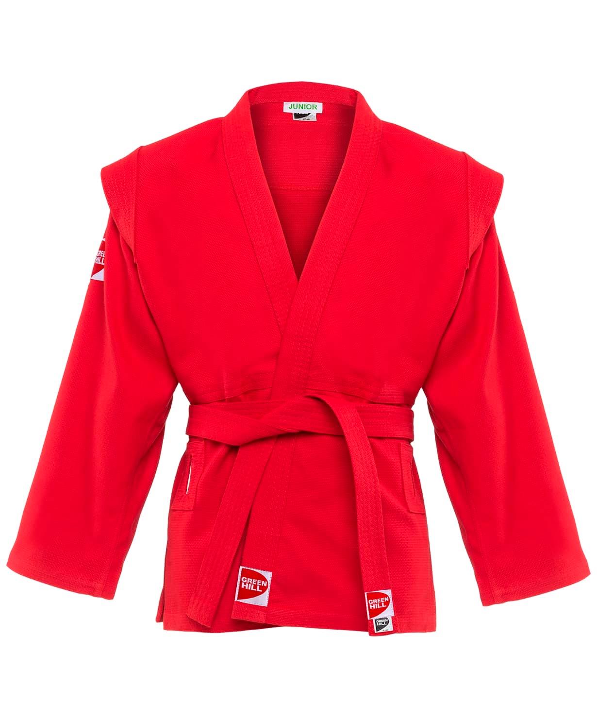 Куртка для самбо Junior SCJ-2201, красный, р.4/170