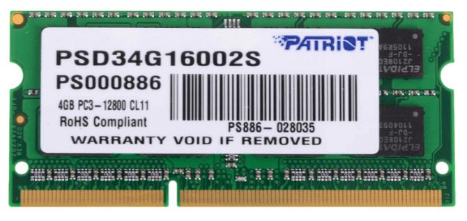 Оперативная память Patriot Memory [PSD34G16002S] 4 Гб DDR3