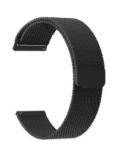 Универсальный ремешок из нержавеющей стали для часов 20 mm LYAMBDA CAPELLA DS-GM-01-20-BK Black