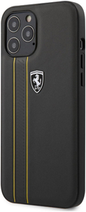 Чехол накладка Ferrari для Apple iPhone 12 Pro Max серый