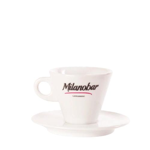Чашка кофейная с блюдцем для американо Milanobar, 180 мл