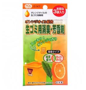 Поглотитель запахов для мусорных ведер с ароматом цитруса, 3 шт Sanada Seiko