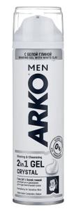Гель для бритья CRYSTAL с белой глиной 200мл ARKO