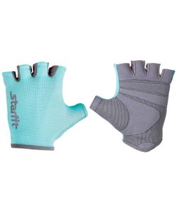 Перчатки для фитнеса STARFIT SU-127, мятный/серый (M)