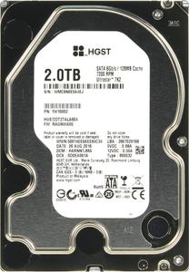 Жесткий диск HGST Ultrastar 7K2 [HUS722T2TALA604] 2 ТБ