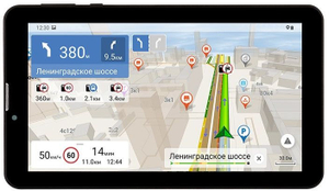 "Навигатор Автомобильный GPS Navitel T737 PRO + TC500 7"" 1024x600 16384 microSD Bluetooth черный Navitel"