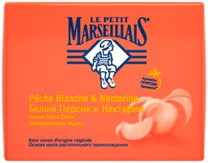 Мыло Белый персик и Нектарин 90гр La Petit Marseillais