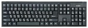 Клавиатура проводная Sven Standard 303 черный