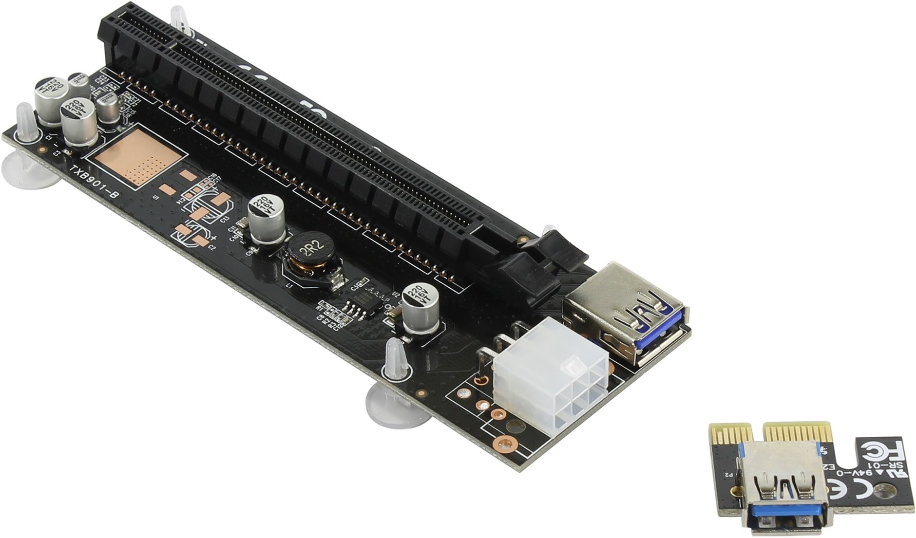 Райзер <TXB901-B> Адаптер  PCI-Ex1->PCI-Ex16