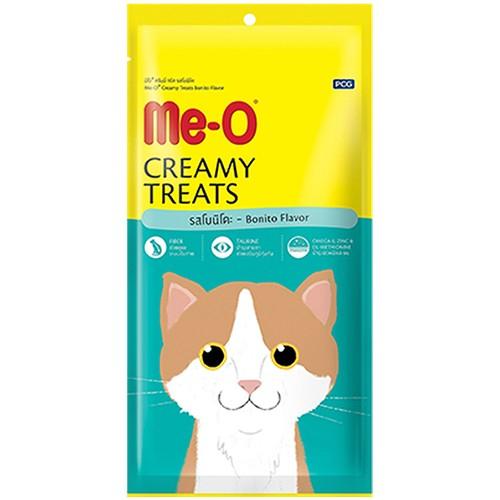 """Крем-лакомство для кошек Ме-О """"Creamy Treats"""", пеламида (4 штуки), 60 г"""