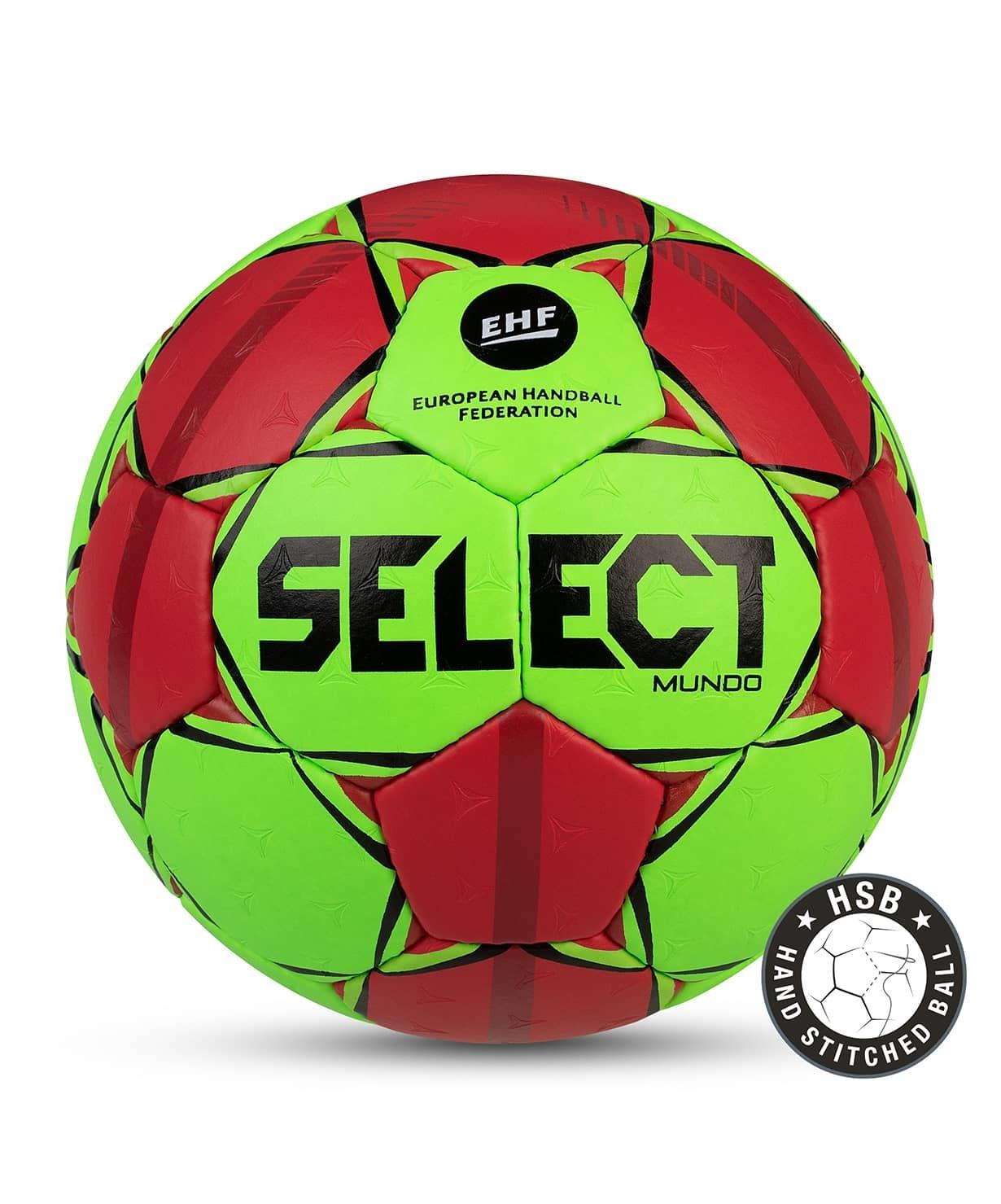 Мяч гандбольный MUNDO №2, зел/крас/чер