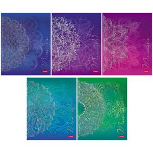"""Тетрадь 48л., А5, клетка Hatber """"Mandala"""", матов. ламинация, 3D-фольга"""