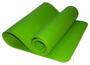 Коврик для йоги и фитнеса. Цвет: зелёный: GREEN К6010