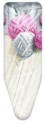 Чехол д/гл.доски Клубки Пряжи Серый/Розовый 130х50см из хлопка